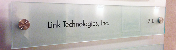 Link Technologies Office Identification Plate